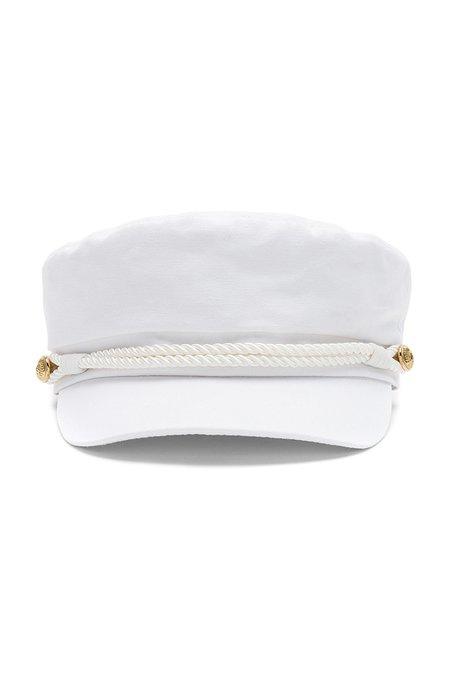 Hat Attack Emmy Newsboy Cap - WHITE
