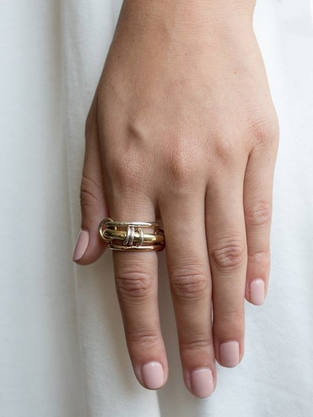 SPINELLI KILCOLLIN Orion Gold X Ring - Multi