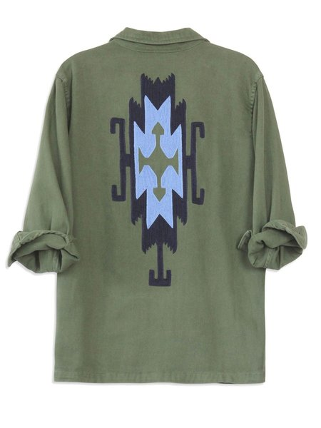 Bliss and Mischief Pray For Rain Army Jacket - ROYAL BLUE