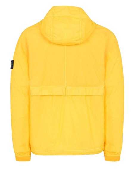Stone Island Resin Poplin Garment Dyed Jacket - YELLOW