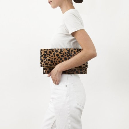 Clare V Foldover Clutch - Leopard