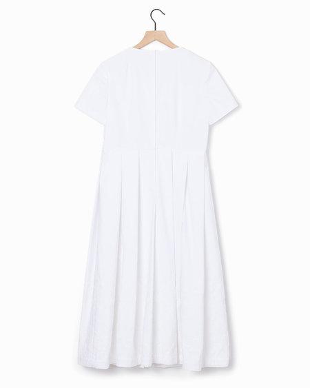 Comme des Garçons Pleated Dress - White