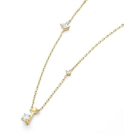 Wasson Fine 14k Dainty Chain Necklace with White Sapphires