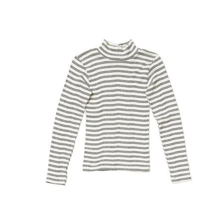 Curator Ida Mock Turtleneck - Black stripe