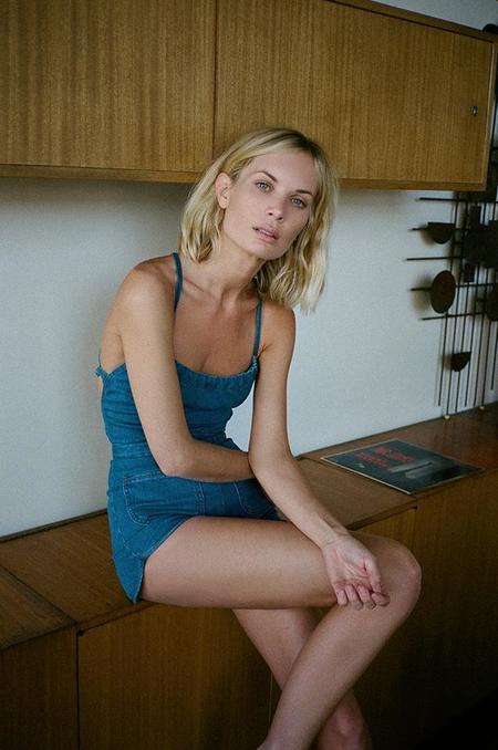 Stoned Immaculate Jean Geanie Denim Romper - Fillmore