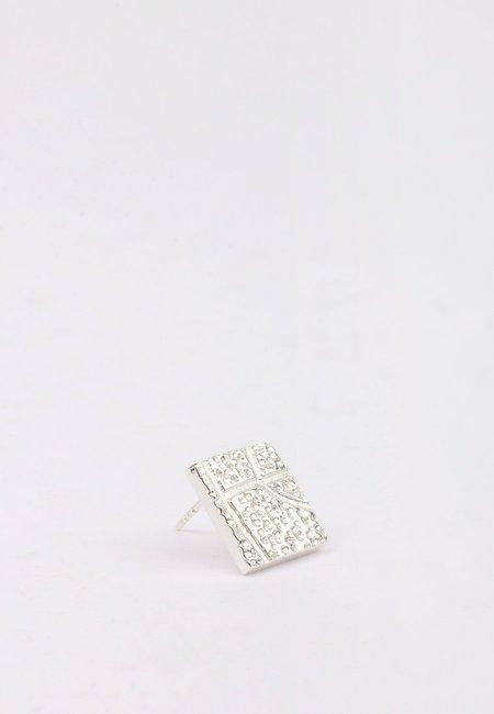 27 Mollys Dot BBall Stud earring - silver