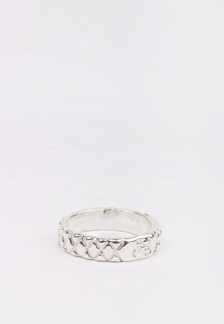 27 Mollys XX Flower Band Ring - silver