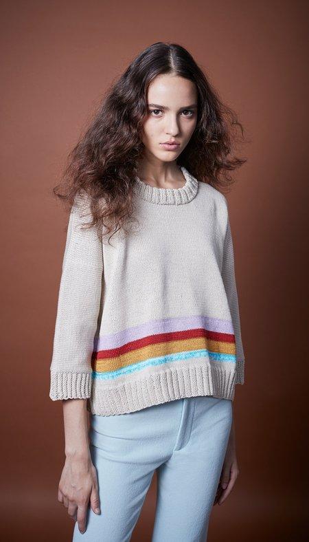 Smythe Surf Stripe Sweater - Sand Multi