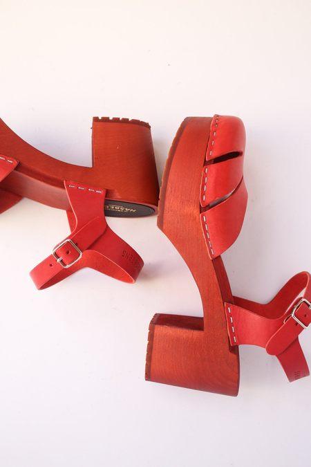 Swedish Hasbeens Baskemolla Sandal - Red