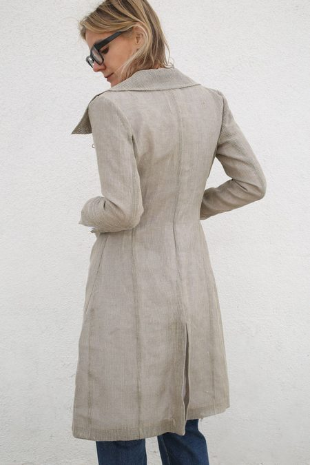 Cherevichkiotvichki Coat with Removable Lining and Collar - Grey