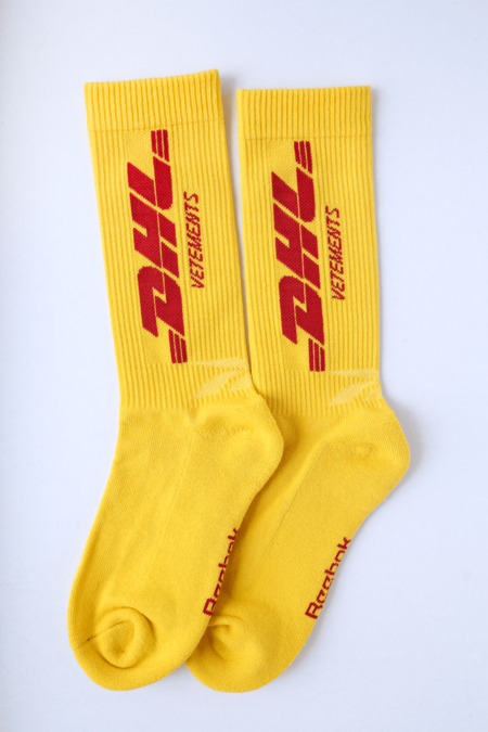 Vetements DHL Socks - Yellow