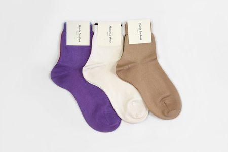 Maria La Rosa Silk Ankle Socks