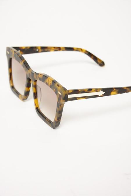 KAREN WALKER CRAZY TORT BANKS SUNGLASSES