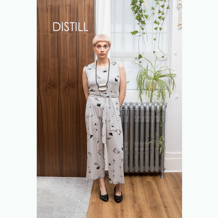 Dagg & Stacey Ansel Jumpsuit - Grey Print or black print