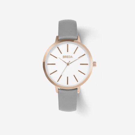 Breda Joule Watch - Rose Gold / Grey