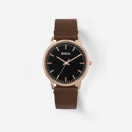 Breda Zapf Watch - Rose Gold / Brown