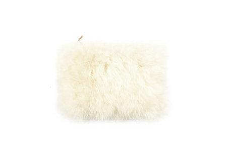 Primecut Fluffy Sheepskin Clutch