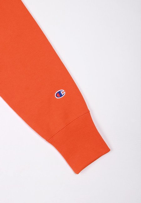 Europe Reverse Weave Hoodie - bright orange
