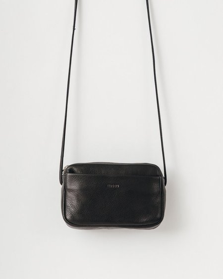 BAGGU Leather Mini Purse - Black
