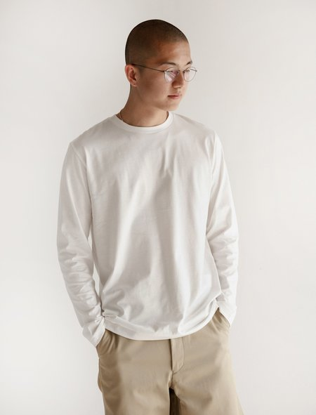 Niuhans Suvin Cotton L/S Tee - White