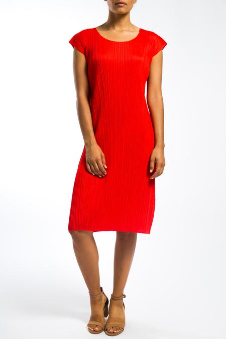 Issey Miyake pleats please cap sleeve dress