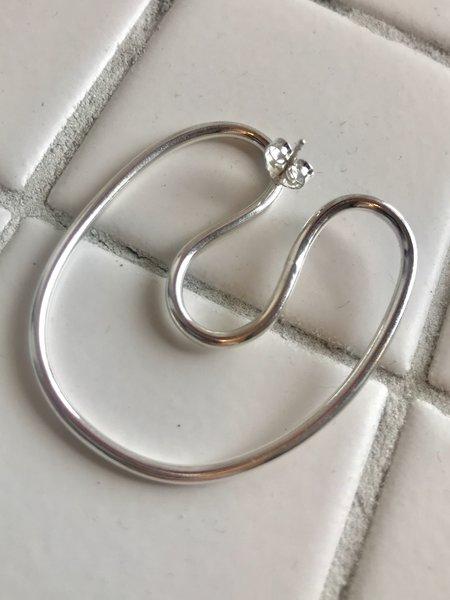 Annika Inez Sloping Curve Earrings - Sterling Silver