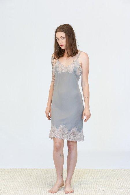Gold Hawk Marilyn Lace Slip Dress - Steeple Grey