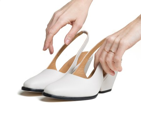 The Palatines Shoes Imago Slingback With Sculpted Heel - Lunar White
