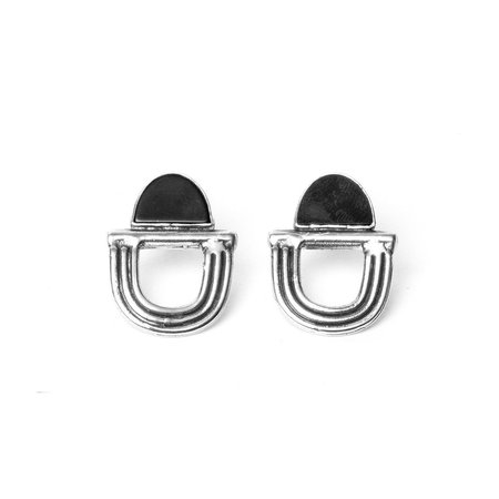 I Like It Here Club Overture Earrings - Onyx