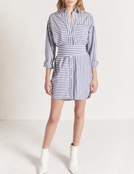 Current/ Elliott ALDA STRIPE SHIRT DRESS - Blue Lagoon Stripe