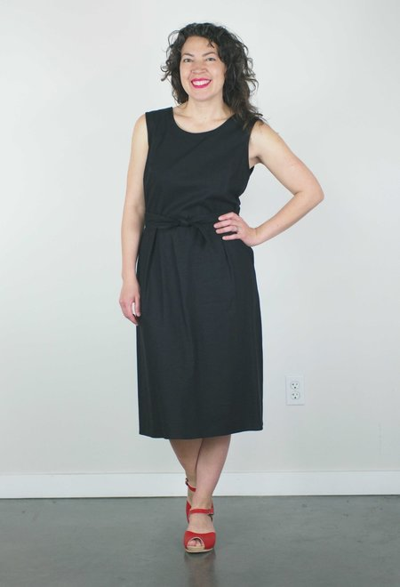 Dagg & Stacey Luka Dress - Black Linen