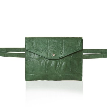Marie Turnor The Rendezvous Belt Bag - Green Reptile