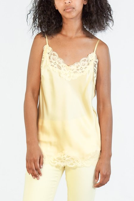Gold Hawk Floral Lace Cami - Yellow Pearl