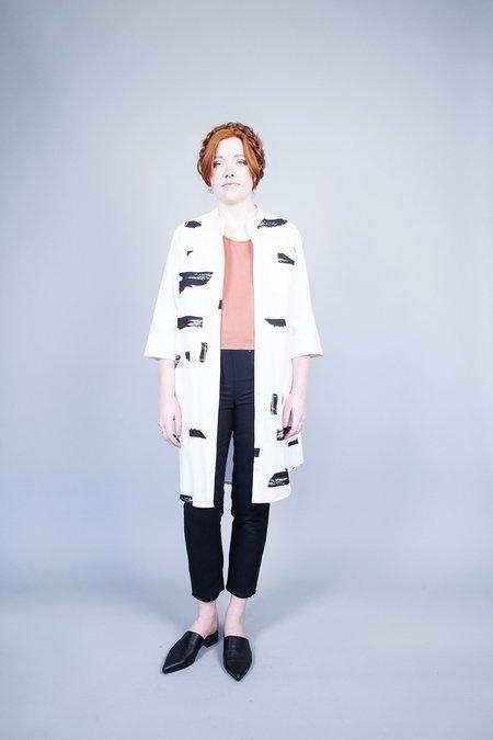 Eve Gravel Dans Le Bois Shirt Dress - Cream Roches
