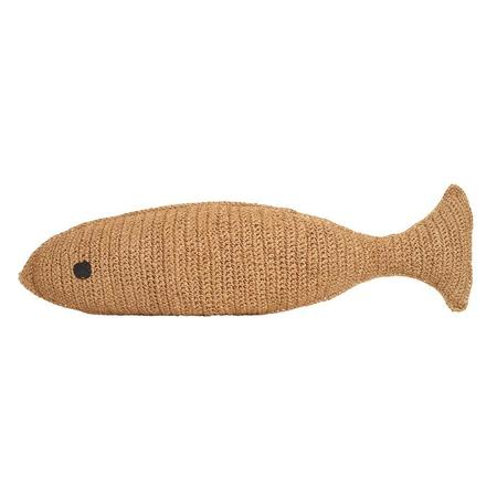 Kids Anne-Claire Petit Fish Cushion - Raffia
