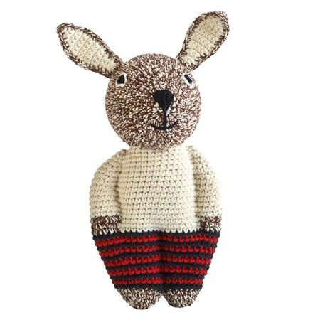 KIDS Anne-Claire Petit Midi Rabbit Toy - Choco Brown Mix