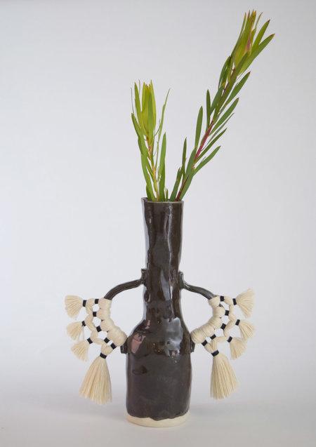 Karen Gayle Tinney Vase #505 - Black