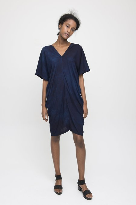 Osei-Duro Sola Panel Dress - Natural Indigo