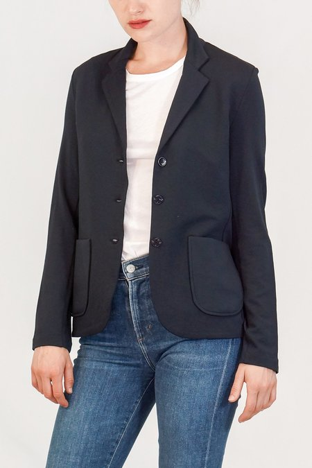 Majestic French Terry Button Blazer - Marine