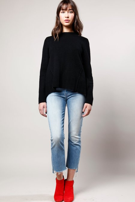 Brochu Walker Keller Layered Pullover - Black/white