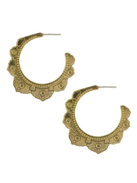 Lulu Designs Tantra Yellow Bronze Large Earring