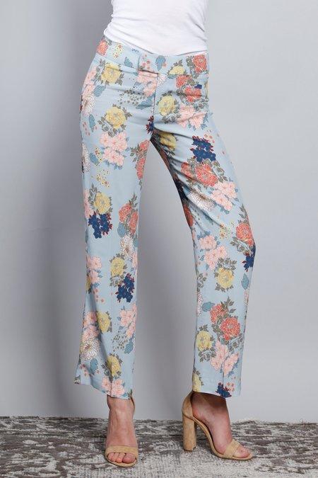 Smythe Flood Pant - Baby Blue Floral