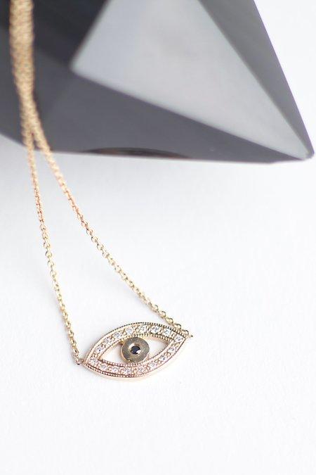 Zoe Chicco 14k Large Eye Necklace