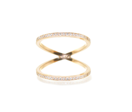 Zoe Chicco 14K Pave Open Bar Ring