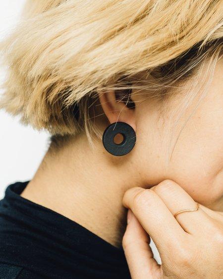 Jujumade Ring Earring - Black