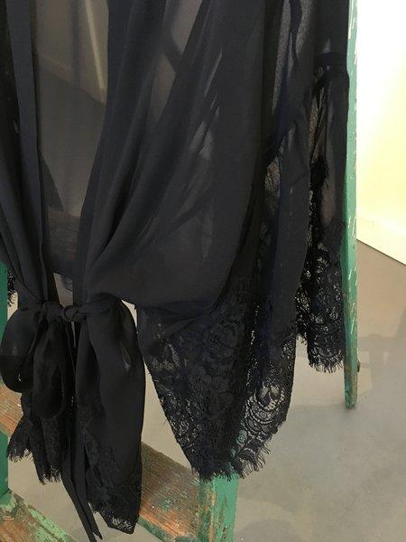 Brown Alan Silk Kimono - Black
