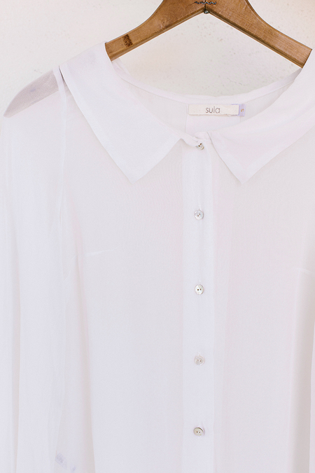 Sula Collared Blouse - Off-White