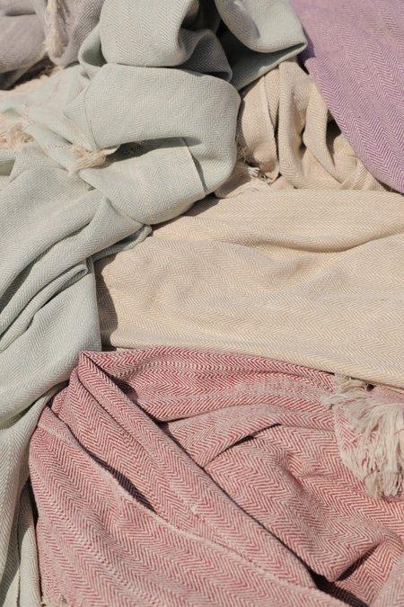 Ajaie Alaie Wabi-Sabi Blanket - Cream/Mauve
