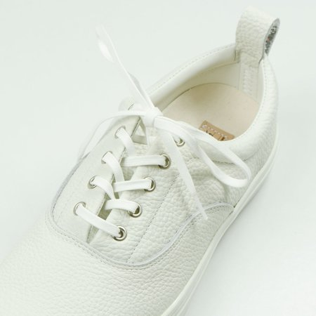 Buddy Dachs Low Chubby Grain Leather Sneakers - White