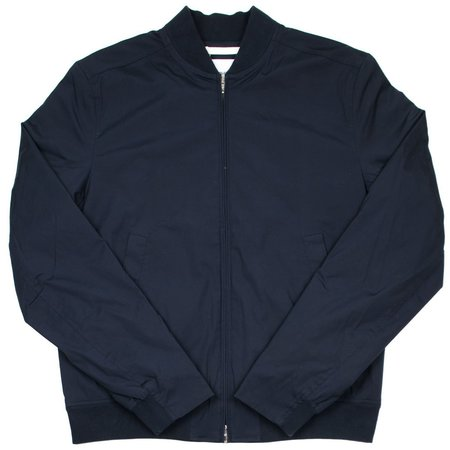 Norse Projects Ryan Poplin Bomber Jacket - Dark Navy